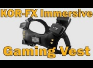 "Nerdgasm Channel's video ""KOR-FX Immersive Haptic Feedback Gaming Vest Review"""