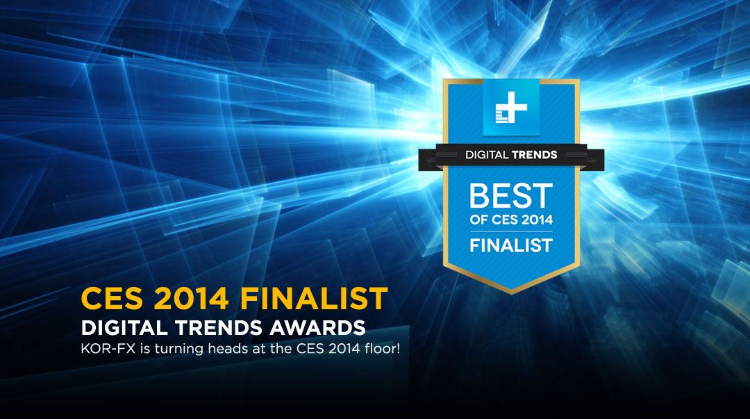 KOR-FX Haptic Gaming Vest Wins Digital Trends Best in SHOW 2014